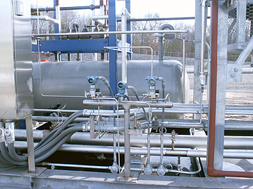 L.P. Gas skid fabrication