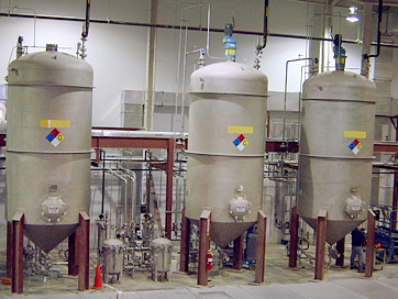 Solvent Storage and Processing Area