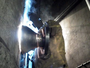 Emergency welding repairs