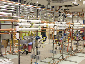 Plumbing & piping at Biopress pilot plant