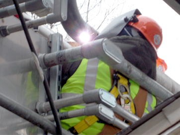 Pipe welder geared up for safety