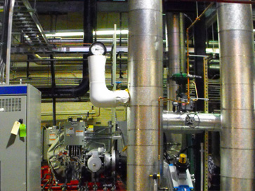 Back pressure steam turbin installation