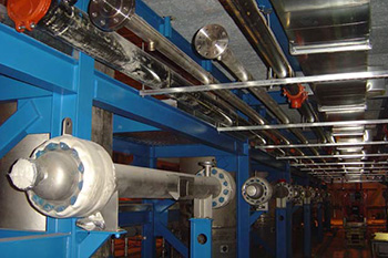 Subdeck Piping Gallery under construction