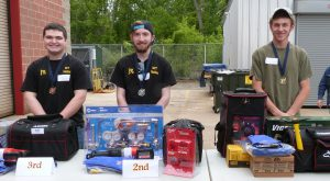 Top 3 Weld Challenge winners with their prize packages.